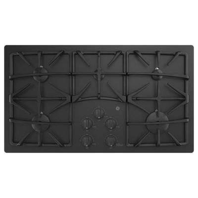 36 in. Gas Cooktop in Black with 5 Burners including Power Boil Burner