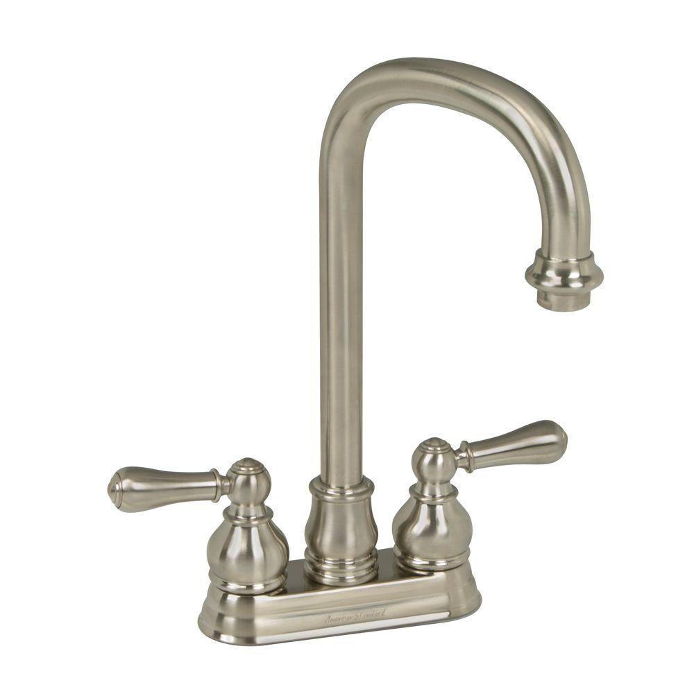 American Standard Hampton 2-Handle Bar Faucet 2.2 gpm in Brushed Nickel