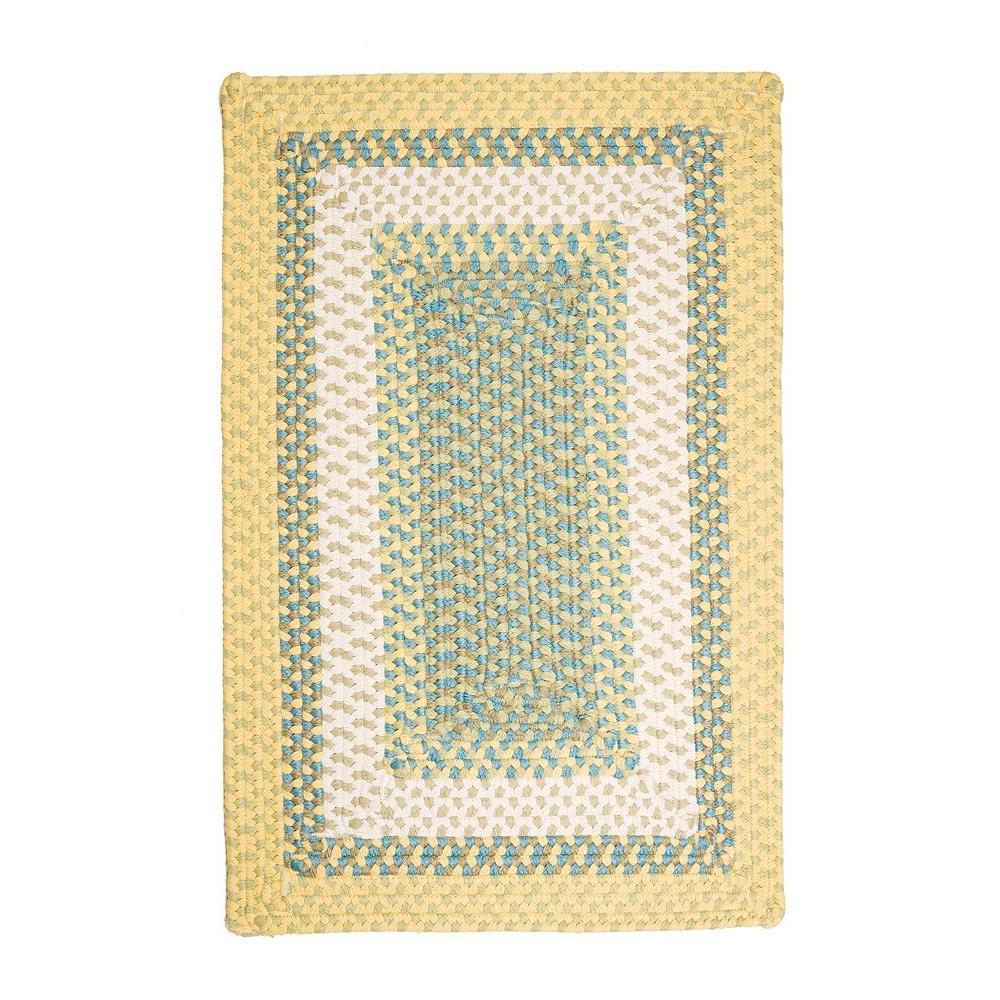 Blithe Yellow 2 ft. x 3 ft. Rectangle Braided Accent Rug