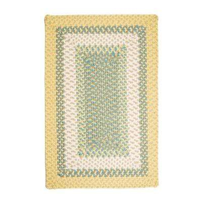 Blithe Yellow 4 ft. x 6 ft. Rectangle Braided Area Rug
