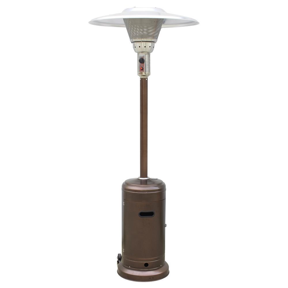 Hiland 45 000 Btu Bronze Propane Gas Commerical Patio Heater Gs 2400 Brz The Home Depot