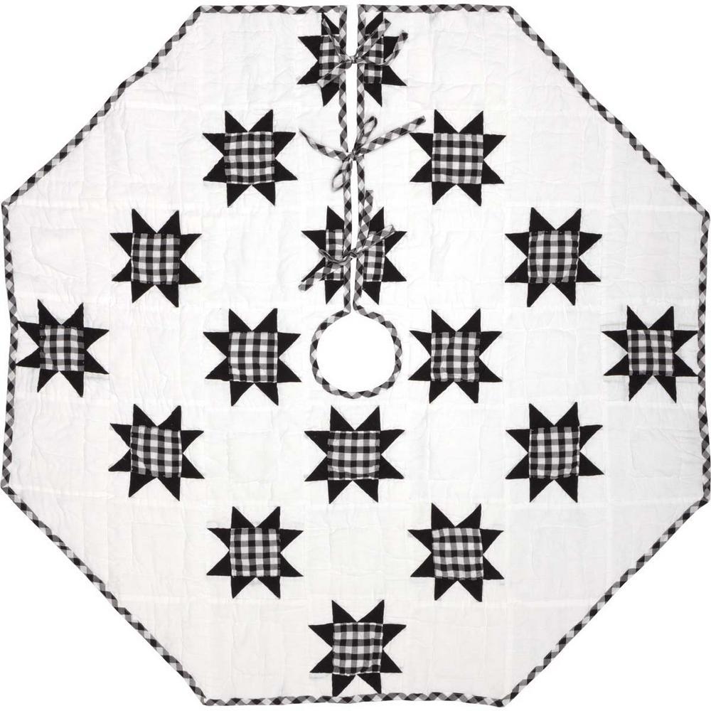 black emmie farmhouse christmas decor patchwork tree skirt
