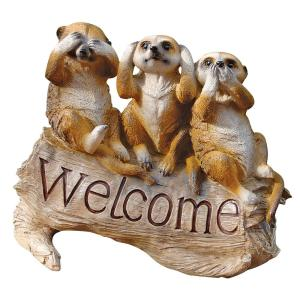 Design Toscano 10 In H The Meerkat Menagerie Welcome Sculpture Ql56964 The Home Depot
