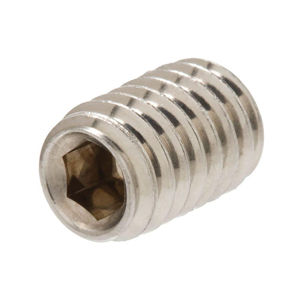 1/4 in. -20 tpi x 1 in. Stainless Steel Socket Set Screw (2 per Pack)