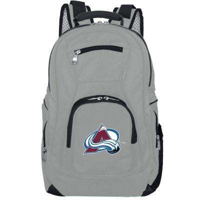 NHL Colorado Avalanche 19 in. Gray Laptop Backpack
