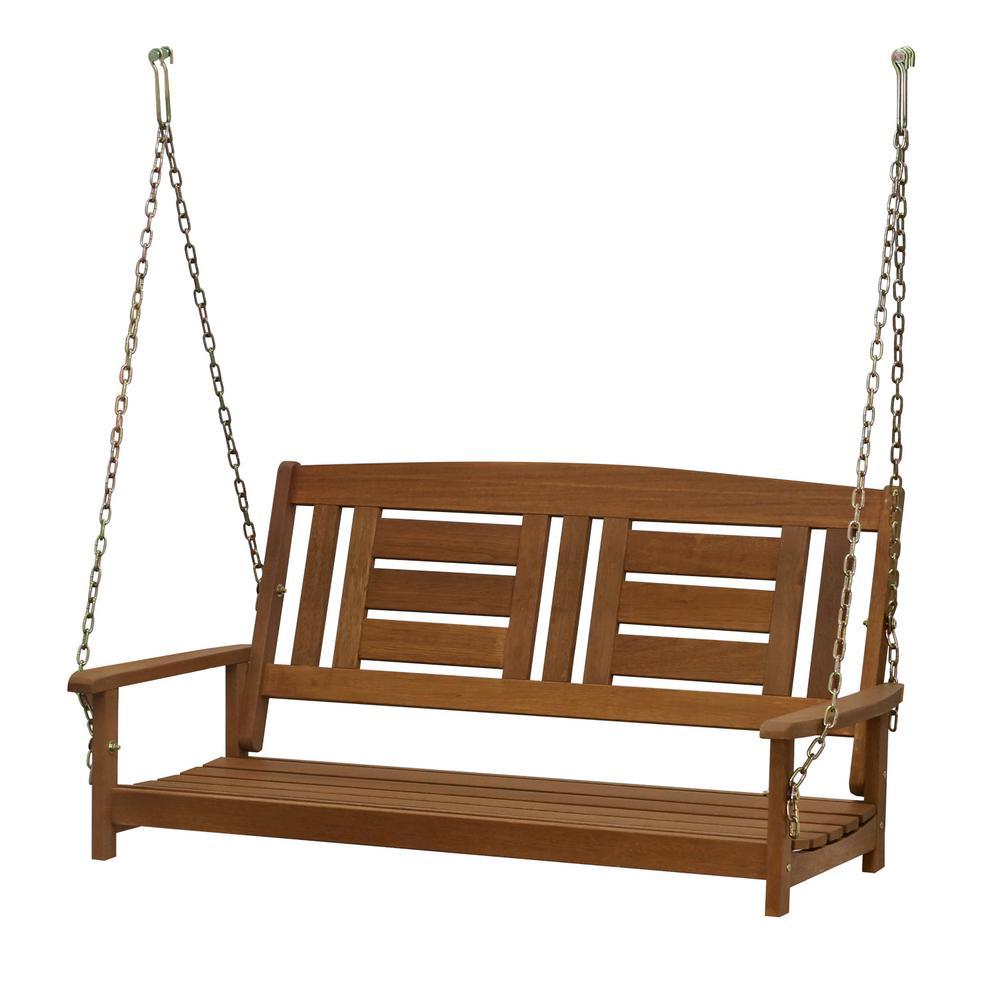 Tioman 2-Person Wood Porch Swing