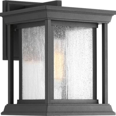 Endicott Collection 1-Light Black 10.5 in. Outdoor Wall Lantern Sconce