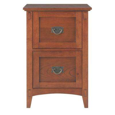 Medium Oak 2 Drawer File Cabinet