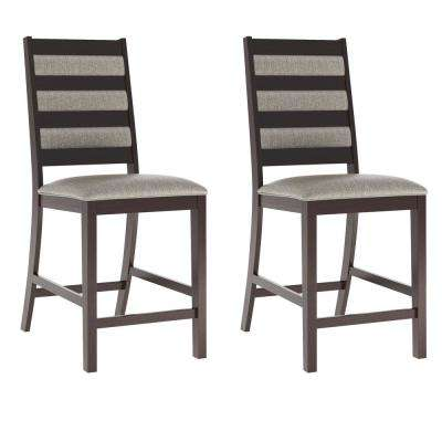 Bistro Platinum Sage Fabric Counter Height Dining Chairs (Set of 2)