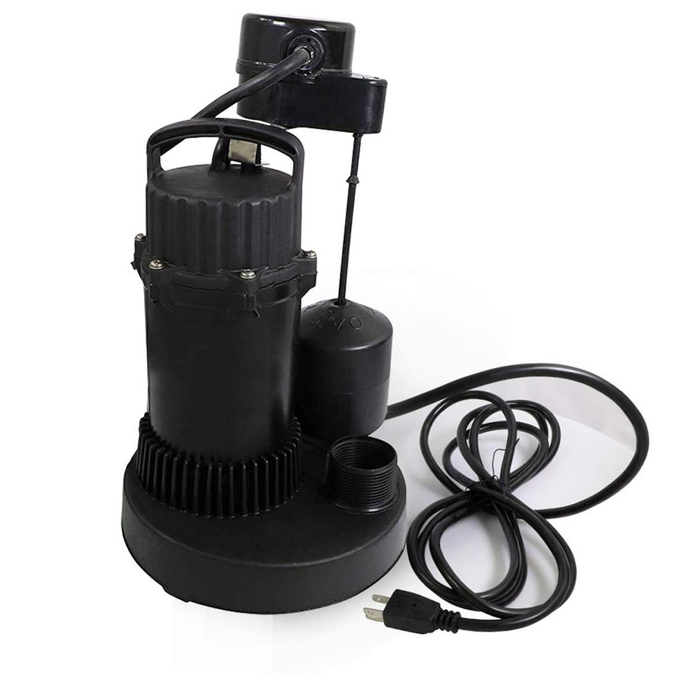 The Plumber's Choice 1/3 HP Heavy-Duty Submersible Sump Pump with Float on