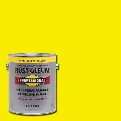 1 gal. High Performance Protective Enamel Gloss Safety Yellow Oil-Based Interior/Exterior Paint (2-Pack)