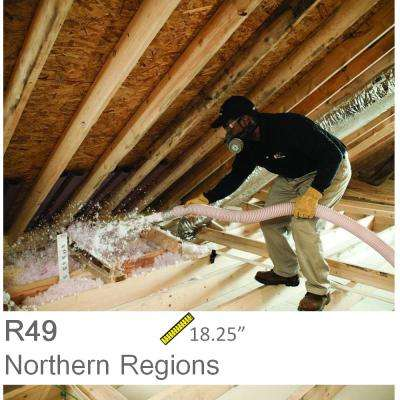 Installed R-49 Fiberglass Blown-in Attic Insulation