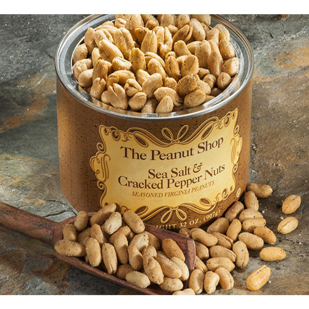 32 oz. Sea Salt and Cracked Pepper Peanuts