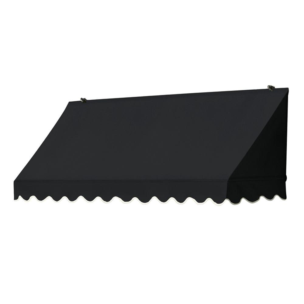 Awnings in a Box 6 ft. Traditional Awning Replacement Cover (26.5 in. Projection) in Ebony