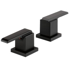 Delta Ara Bathroom Lever Handles in Matte Black (2-Pack) by Delta