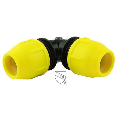 3/4 in. IPS DR 11 Underground Yellow Poly Gas Pipe 90-Degree Elbow