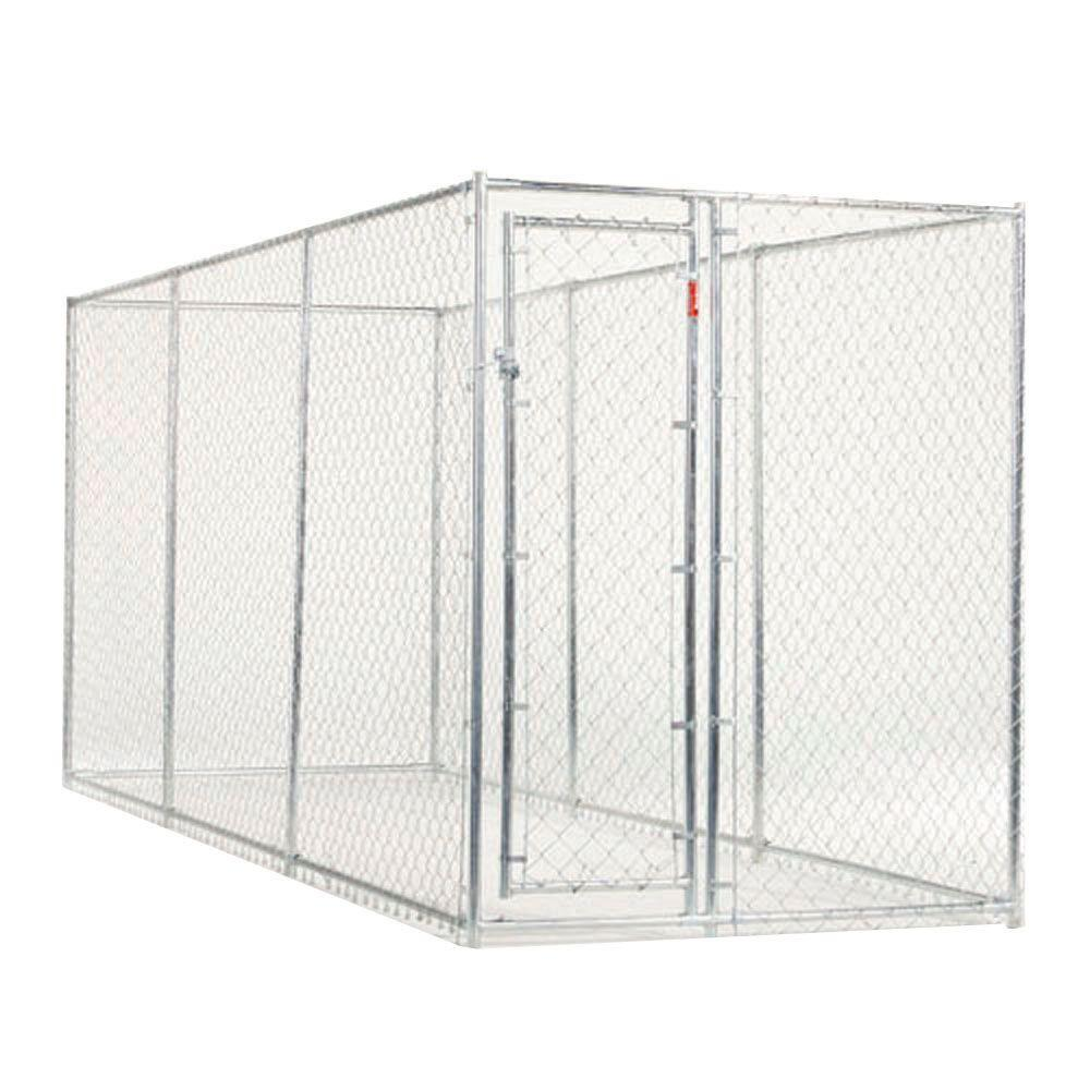 Lucky Dog 10 ft. x 10 ft. x 6 ft. or 15 ft. x 5 ft. x 6 ft. EZ 2IN1 Chain Link Box Kennel