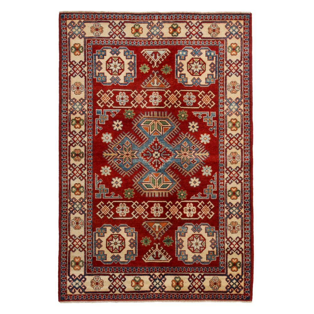 Darya Rugs Kazak Red 4 ft. 1 in. x 5 ft. 10 in. Indoor Area Rug