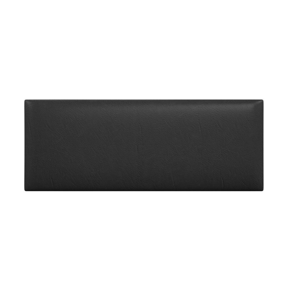 Vant vintage leather black coal queen full upholstered headboards accent wall panels