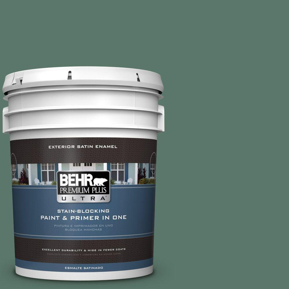 BEHR Premium Plus Ultra 5-gal. #S420-6 Pine Brook Satin Enamel Exterior Paint