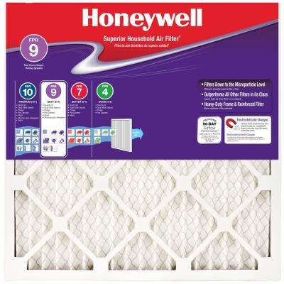 16 in. x 25 in. x 1 in. Superior Allergen Pleated FPR 9 Air Filter (Case of 12)
