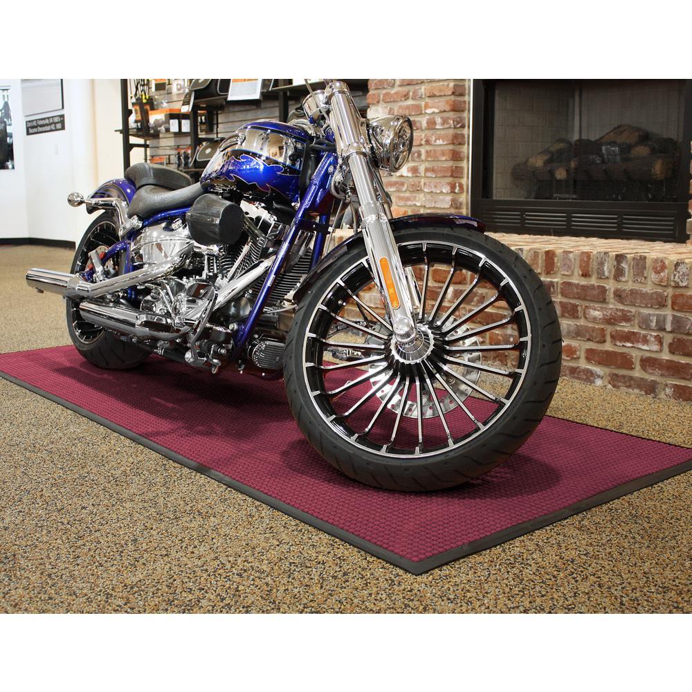 Bungalow Flooring WaterGuard Bordeaux Motorcycle 45.5 in. x 108.75 in. Landing Pad