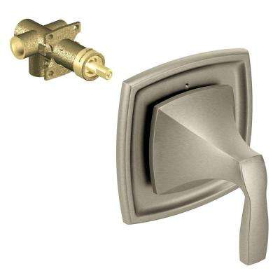Voss 1-Handle 2-Function Transfer Valve Trim Kit with Valve in Brushed Nickel