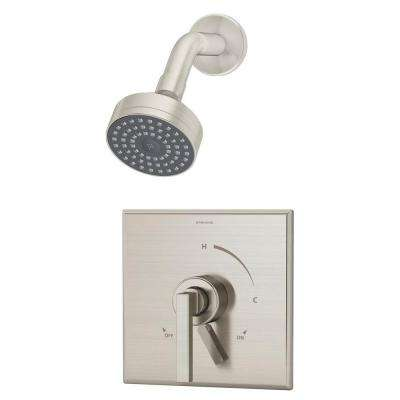 Duro 1-Handle Shower Faucet Trim Only in Satin Nickel (Valve Not Included)