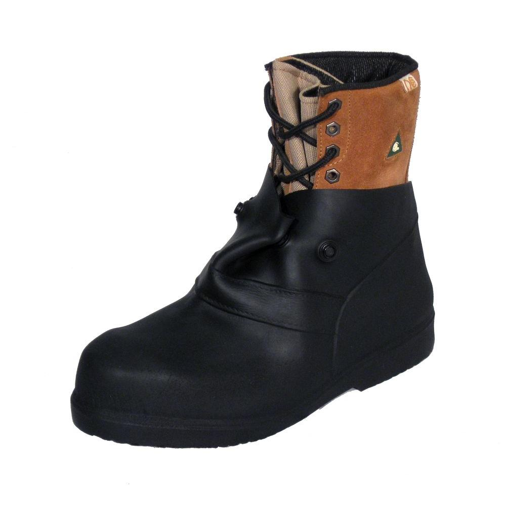 e0be4ce49a1a 6 in. Men Small Black Rubber Over-the-Shoe Boots