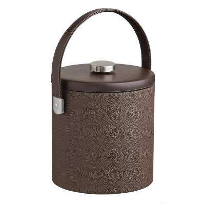 Cosmopolitan 3 Qt. Mocha Ice Bucket with Strap Handle and Thick Flat Lid