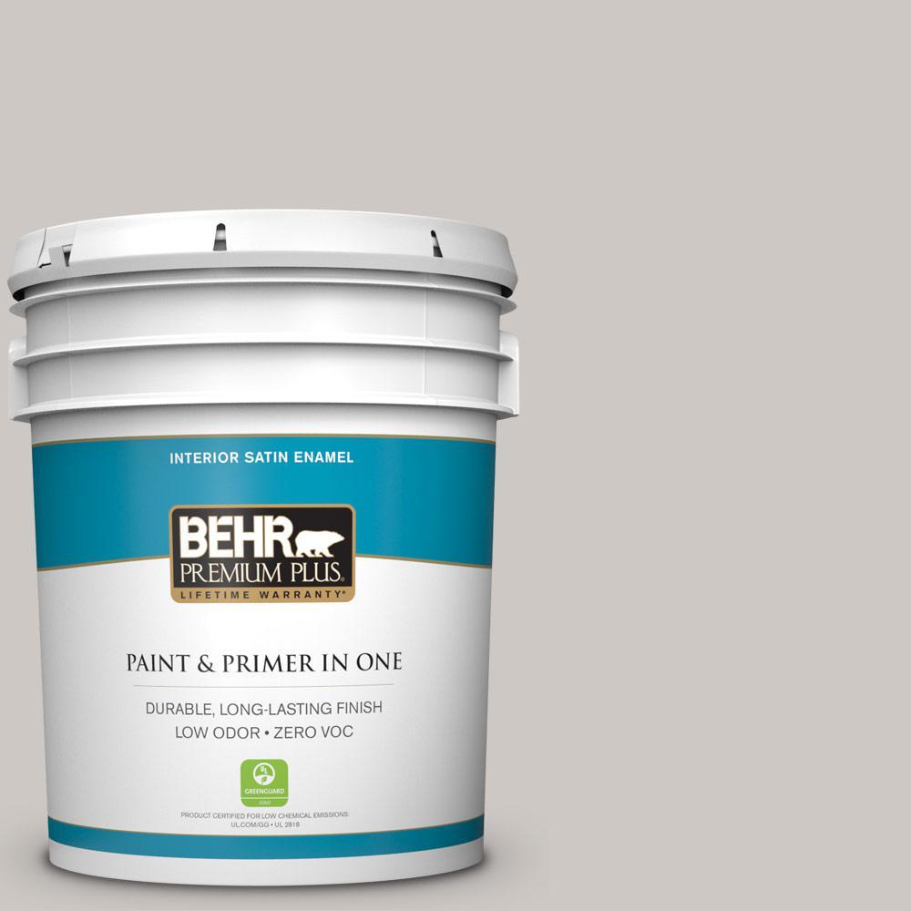 BEHR Premium Plus Home Decorators Collection 5-gal. #HDC-WR14-2 Winter Haze Satin Enamel Interior Paint