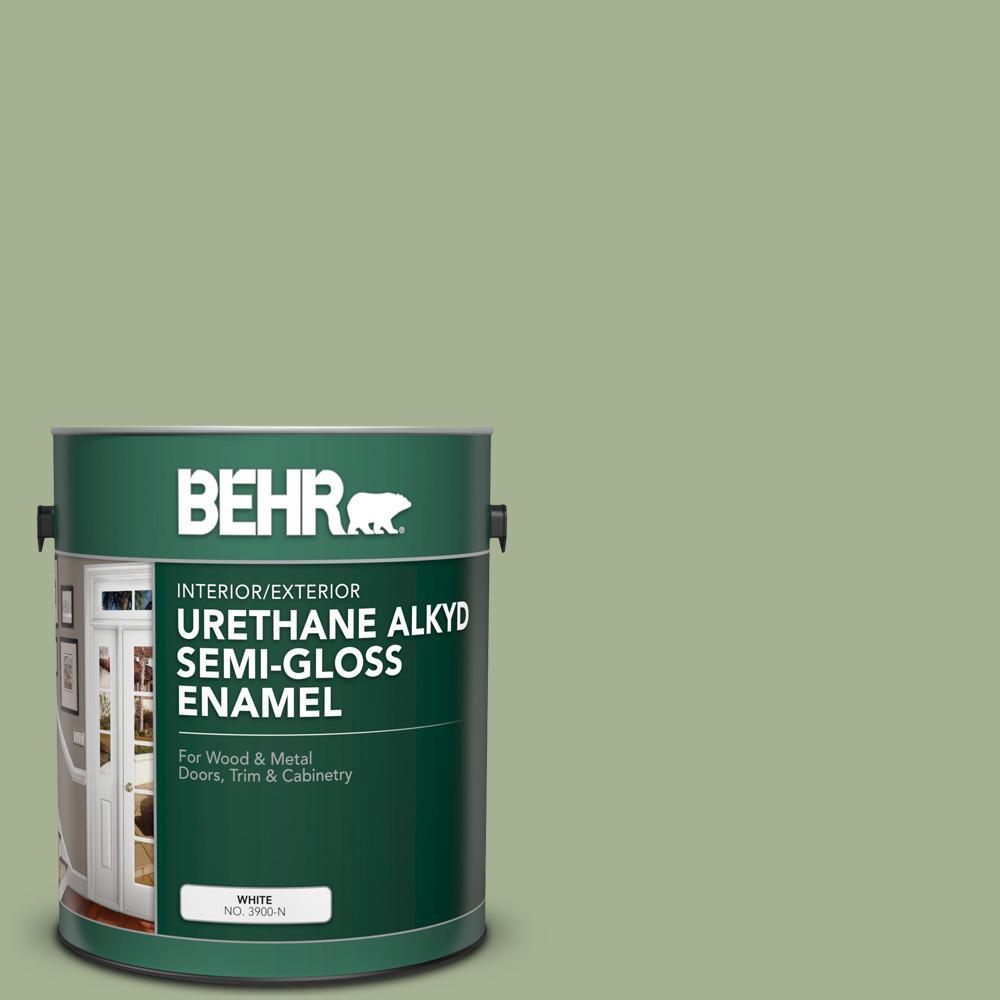 1 gal. #PPU11-06 Willow Grove Urethane Alkyd Semi-Gloss Enamel Interior/Exterior Paint