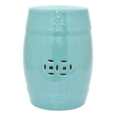 Turquoise in Blue Garden Stool