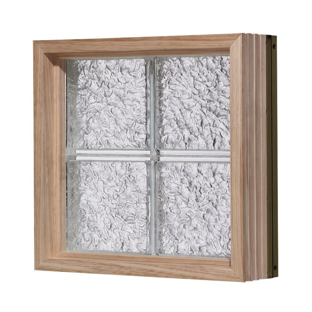 Pittsburgh Corning 56 in. x 40 in. LightWise IceScapes Pattern Aluminum-Clad Glass Block Window