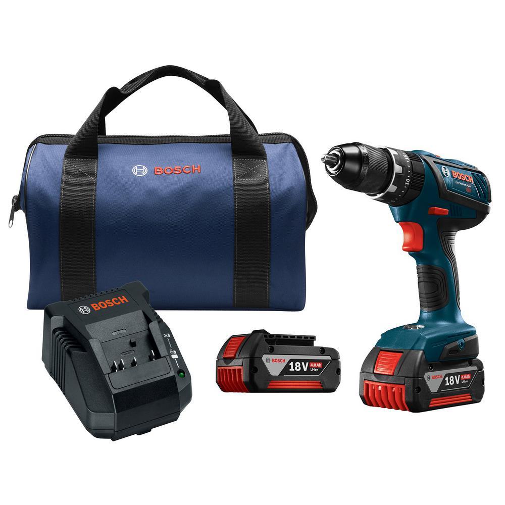 Bosch 18-Volt Cordless 1/2 in. Compact Tough Hammer Drill...
