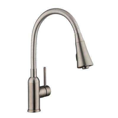 Bodell Single-Handle Pulldown Laundry Faucet in Stainless Steel