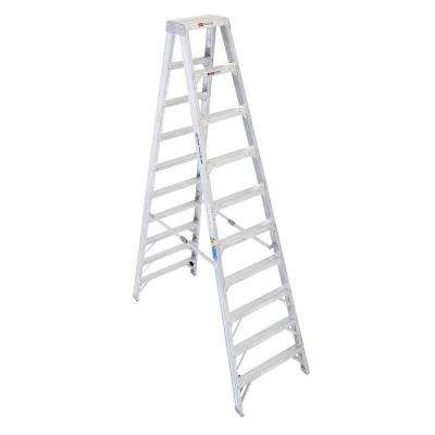 10 ft. Aluminum Twin Step Ladder with 375 lb. Load Capacity Type IAA Duty Rating
