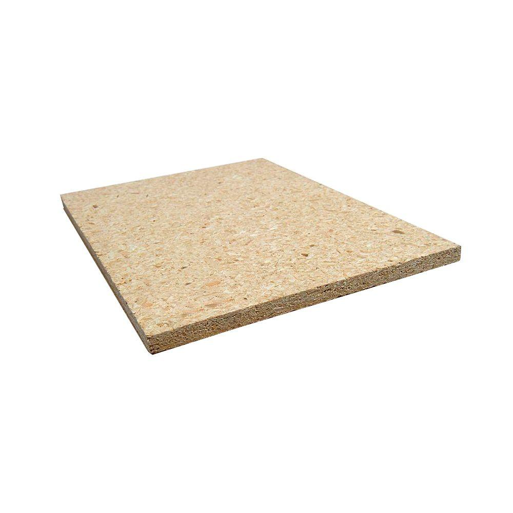 5/8 in. x 24 in. x 2 ft. Wood Particle Board