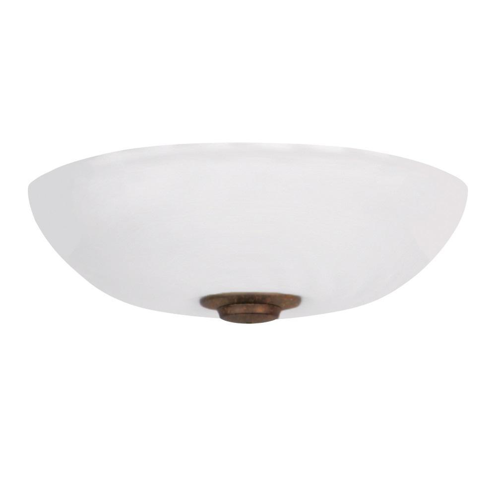 Harlow Opal Matte LED Array Gilded Bronze Ceiling Fan Light Kit