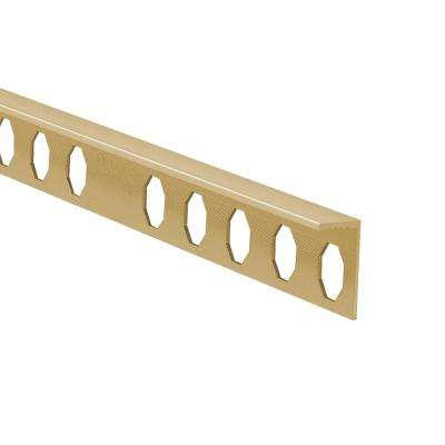 Novosuelo Matt Gold 1/2 in. x 98-1/2 in. Aluminum Tile Edging Trim