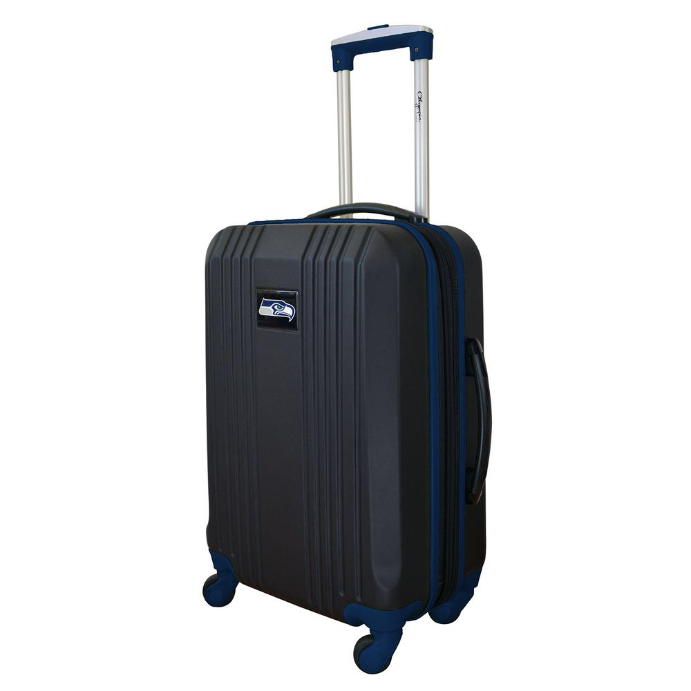Denco Nfl Seattle Seahawks 21 In Hardcase 2 Tone Luggage Carry On Spinner Suitcase Nfssl208