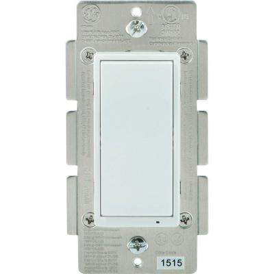 In-Wall On/Off Paddle Bluetooth Timer Switch, Almond/White