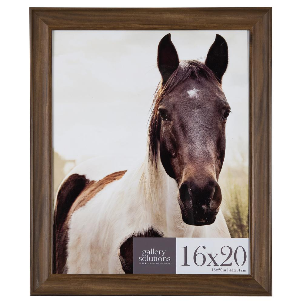 Pinnacle 16 In X 20 In Brown Poster Picture Frame Set 16fp2208