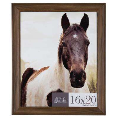 16 in. x 20 in. Brown Poster Picture Frame Set