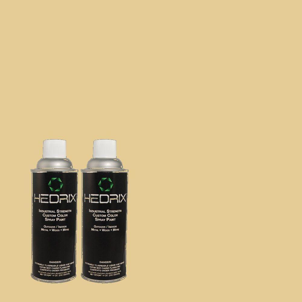 Hedrix 11 oz. Match of 2A6-3 Ginger Root Semi-Gloss Custom Spray Paint (2-Pack)