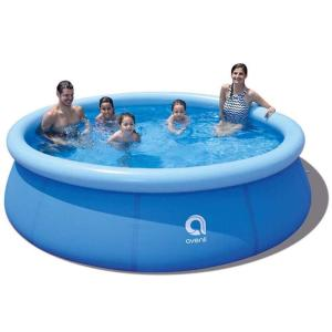 10 ft. Round 30 in. Deep Family Inflatable Pool Outdoor Garden Waters Sports Game Easy Set