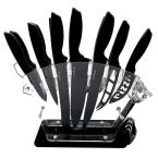 17-Piece Stainless Steel Precision Kitchen Knife Set with Block Stand