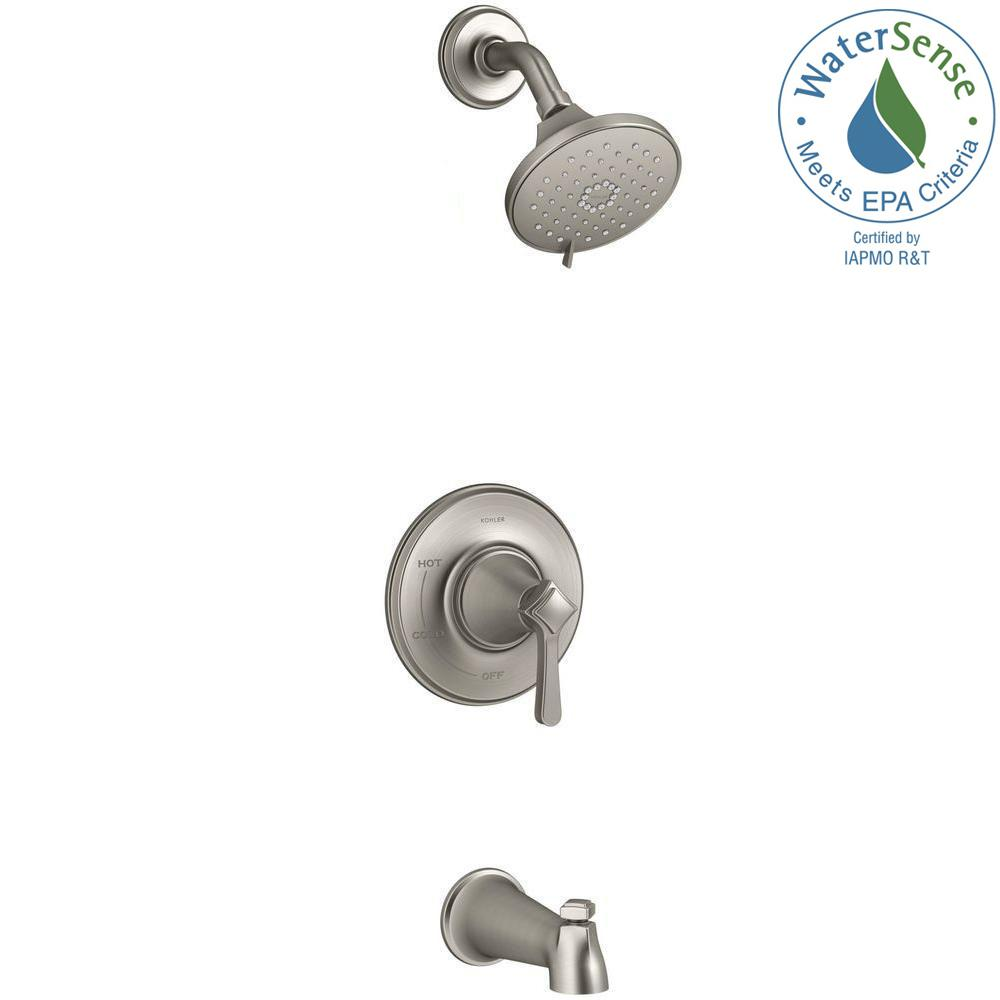 Georgeson Single-Handle 3-Spray Tub and Shower Faucet in Vibrant Brushed Nickel