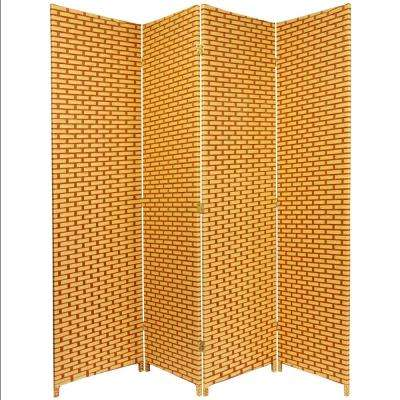 6 ft. Rust Woven Fiber 4-Panel Room Divider