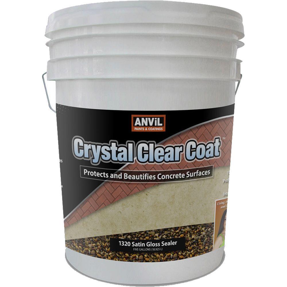 ANVIL 5 gal. Crystal Clear Coat Satin Gloss Waterproofer Interior/Exterior Sealer